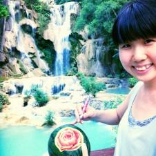ラオス世界遺産ルアンパバン クアンシーの滝で水中カービング!?